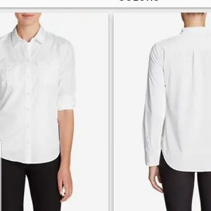 Eddie Bauer WR Mountain Texture white shirt